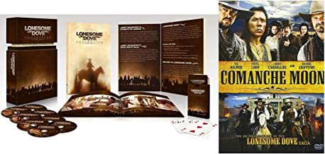 Lonesome Dove Complete 8-Disc Giftset DVD Collection + Comanche Moon with Playing Cards and Booklet