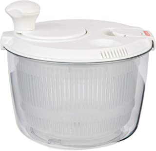 Andcolors SMALL Salad Spinner 2.9 qt Size BPA Free Clips & Locking Tabs for Safety Dry & Drain Lettuce Easily for Crisper Salads in Half the Time Bowl Goes from Prep to Table (Small)