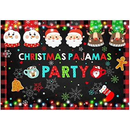 Funnytree 8x6ft Durable Fabric Christmas Ugly Sweater Party Backdrop No Wrinkles Merry Xmas Uglier Rustic Snowflake Photography Background Winter Elfed Kids Photobooth Decorations Photo Banner