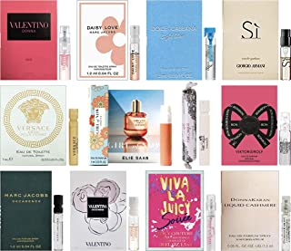 Women's Perfume Sampler Lot x 12 Sample Vials - High End Desginer Fragrance Samples (Set 1)