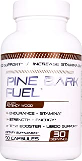 PINE BARK FUEL Male Enhancing Pills (1 Month Supply) - Enlargement Booster for Men - Increase Size, Strength, Stamina - Energy, Mood, Endurance Boost - All Natural Performance Supplement - Made in USA