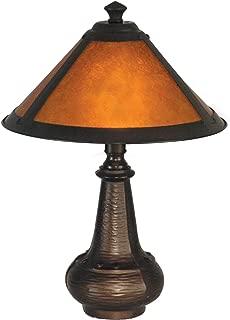 Dale Tiffany TA90191 Hunter Mica Accent Lamp, Antique Bronze and Mica Shade