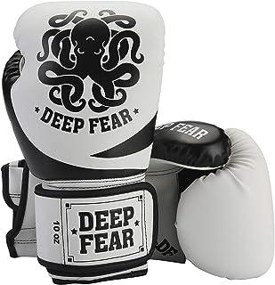 ボクシンググローブ、DEEP FEARボクシンググローブ、プロのトレーニンググローブ、高度な厚手の革、競争、運動、MMAファイティングスキル、ファイティング、サンドバッグ、サンダ、ムアイタイ、フィットネススポーツ、テコンドー、空の手、サンドバッ...