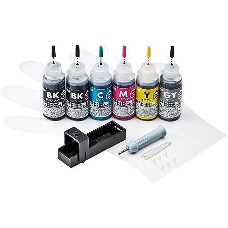 サンワサプライ 詰め替え(初回)用インク BCI-350PGBK・351BK・C・M・Y・GY用 INK-C351S30S6