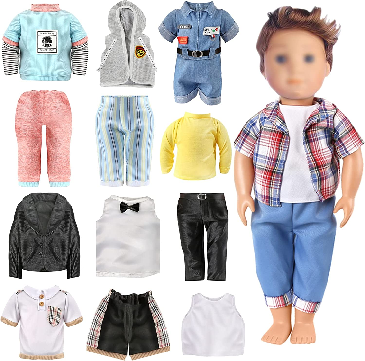 OUFOTAT 18 Inch American latest Boy Doll B Fits and 2021new shipping free Accessories Clothes