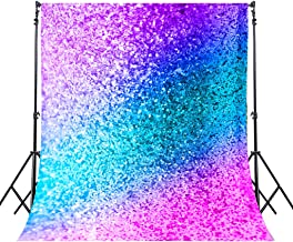 Riyidecor YouTube Backdrop Not Glitter Colorful Photography Background Teal Pink 5WX7H Feet Newborn Decorations Birthday Wedding Baby Shower Props Photo Shoot Blush Vinyl Cloth