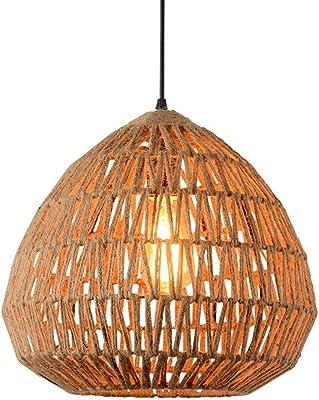 CGHHY Hemp Chandelier American Country Bedroom Living Room Creative Retro Iron Restaurant Pendant Lamp,3636cm