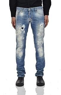 Slim Jeans Square Men - Size: 48 - Color: Blue - New