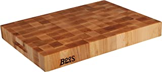 John Boos Block CCB2015-225 Classic Reversible Maple Wood End Grain Chopping Block, 20 Inches x 15 Inches x 2.25 Inches