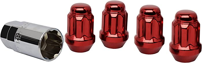 White Knight 40700SRDT Red Wheel Lock, 4 Pack