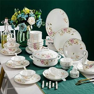 XLNB Série Pastorale Romantique, Vaisselle Et Arts De La Table, Service De Table Complet En Céramique 52 Pièces Vaisselle ...