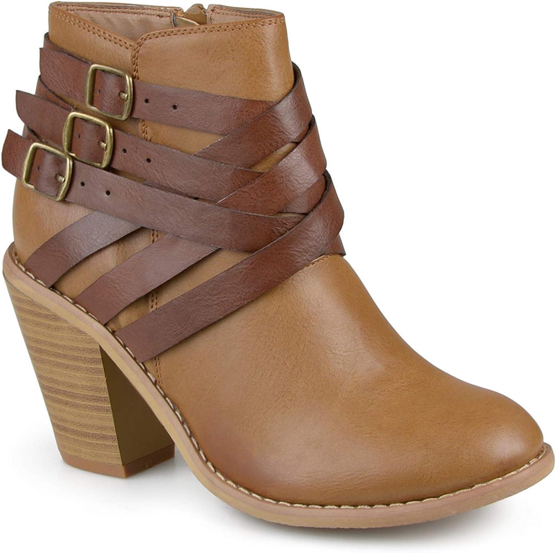 PRETTYHOMEL Women's Buckle Ankle Boot