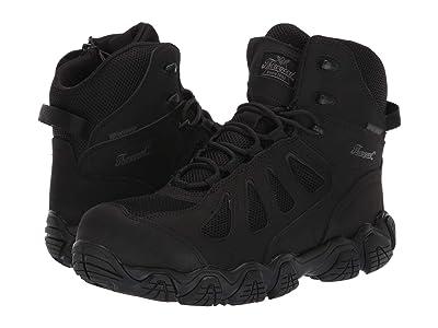 Thorogood 6 Crosstrex Side Zip Waterproof Comp Toe (Black) Men