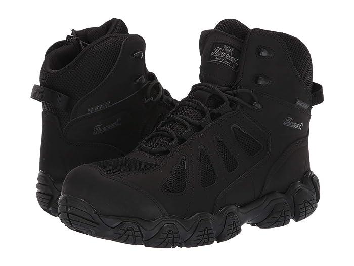Thorogood  6 Crosstrex Side Zip Waterproof Comp Toe (Black) Mens Boots