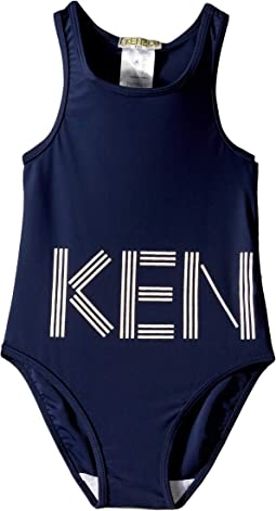 15d29b79d6 Kenzo Kids. One-Piece Ruffled Crisscross Swimsuit (Infant). $54.99MSRP:  $68.20. Luxury. Navy