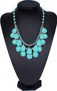 turchese gemma gioielli collana di perline