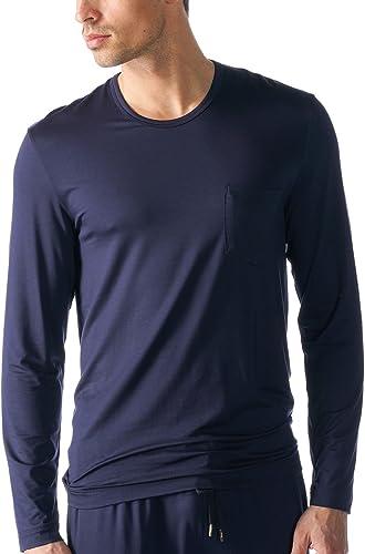 Mey Hommes 65640-668 Hommes's Jefferson Yacht bleu Solid Colour Pajama Pyjama Top Xgrand