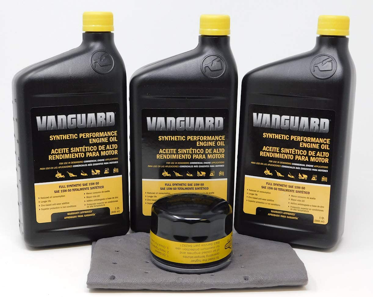 Briggs Stratton 15W-50 3 Quarts Ranking TOP20 Full Engi Vanguard Manufacturer OFFicial shop Synthetic