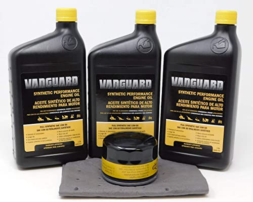 wholesale Briggs & Stratton 15W-50 (3 Quarts) Full online sale Synthetic Vanguard Engine Oil Change online sale Kit online