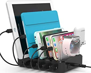 100W Fastest Charging Station Organizer for Multiple Devices with 45W Power Delivery and Quick Charge 3.0 Ports, 6 Ports U...