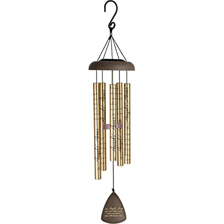"""Carson Home Accents 30"""" Solar Sonnet Chime, Angels' Arms"""