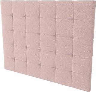 LA WEB DEL COLCHON - Cabecero tapizado Corfú Tex para Cama de 180 (190 x 120 cms) Rosa Palo Textil Suave | Cama Juvenil | Cama Matrimonio | Cabezal Cama |