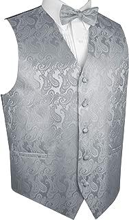 Men's Formal, Prom, Wedding, Tuxedo Vest, Bow-Tie & Hankie Set in Paisley