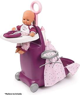 Smoby- Trolley para muñecos, Color Morado (220346