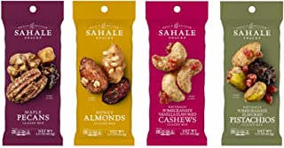 Sahale Snacks Trail Mix and Glazed Nut Mix Variety Pack, 1.5 Ounces (Pack of 12)