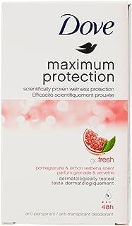 Dove Maximum Protection Go Fresh Pomegranate and Lemon Verbena Scent AntiPerspirant Deodorant Cream 45ml Pack of 3