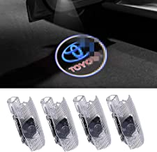 4 PCS Compatible Toyota Door Logo Lights Projector LED 3D Shadow Ghost Light For Toyota Highlander/Camry/ Prius/Sienna/Tundra/Venza/4 Runner Puddle Light Accessories