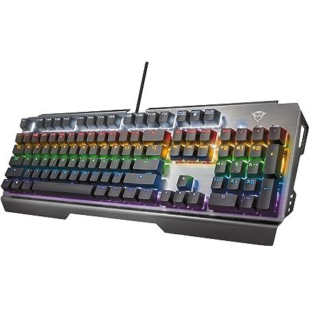 Trust Gaming GXT 877 Scarr Teclado Mecánico Layout español (Interruptores Mecánicos, 7 Modos de Color, Anti-Ghosting Avanzado, 8 Teclas para Gaming ...