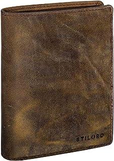 STILORD 'Emil' Cartera Hombre Piel Elegante diseño Vintage Monedero Billetera para Tarjetas Billetes DNI de auténtica Cuer...