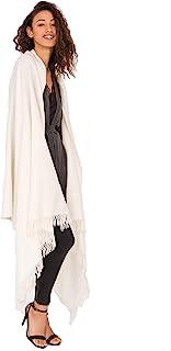 likemary Damen Schal Schultertuch aus 100% Merino Wolle - Poncho Stola XXL Tuch & Umschlagtuch - für Frauen - Kasa 100 x 200 cm