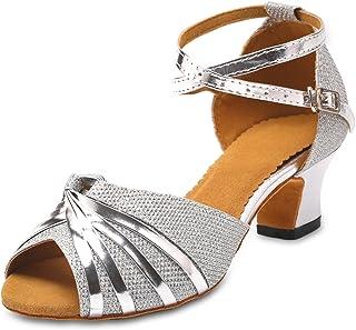 KAI-ROAD Ballroom Dance Shoes Women Low Heel Wedding Shoe Salsa Latin Dance Heels