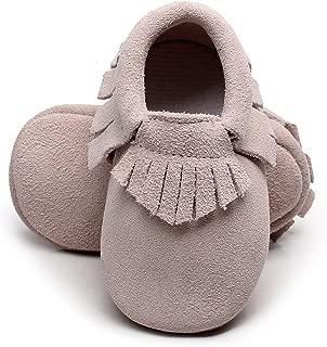 Toddler Moccasins Boys Shoes - Soft Soles Girl Baby Shoes Fringe Buffalo Plaid Baby Moccasins