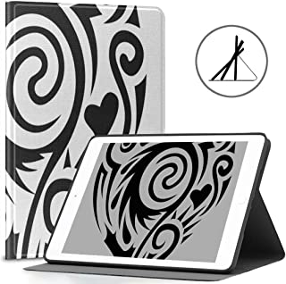 Ipad 9.7-inch Cover (Soft Case) Tatoo Heart Vector Ipad Air 2/9.7-inch Cover with Automatic Wake/Sleep Function, Suitable for Ipad 9.7