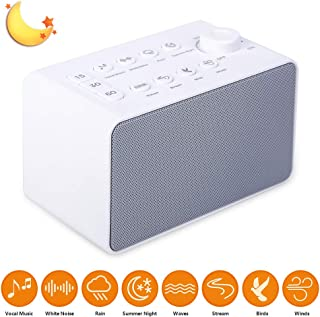 ATETION White Noise Machine for Sleeping, Sleep Sound Machine with Non-Looping Soothing Sounds for Baby Adult Traveler, Portable for Home Office Travel