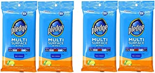 Pledge Multi Surface Everyday Wipes Fresh Citrus, 25-Count Packaging May Vary (Pack of 4)