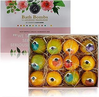 Set Bombas de Baño 12 piezas con Aceites Esenciales Naturales Regalo Navideño