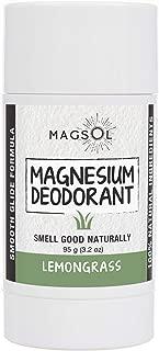 MagSol Organics Magnesium Deodorant (Lemongrass 3.2 oz)