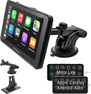 $299 » APHQUA 7 Inch Full HD Capacitive Touchscreen Car Stereo with Apple Carplay and Android Auto, Multimedia Player with Blueto...