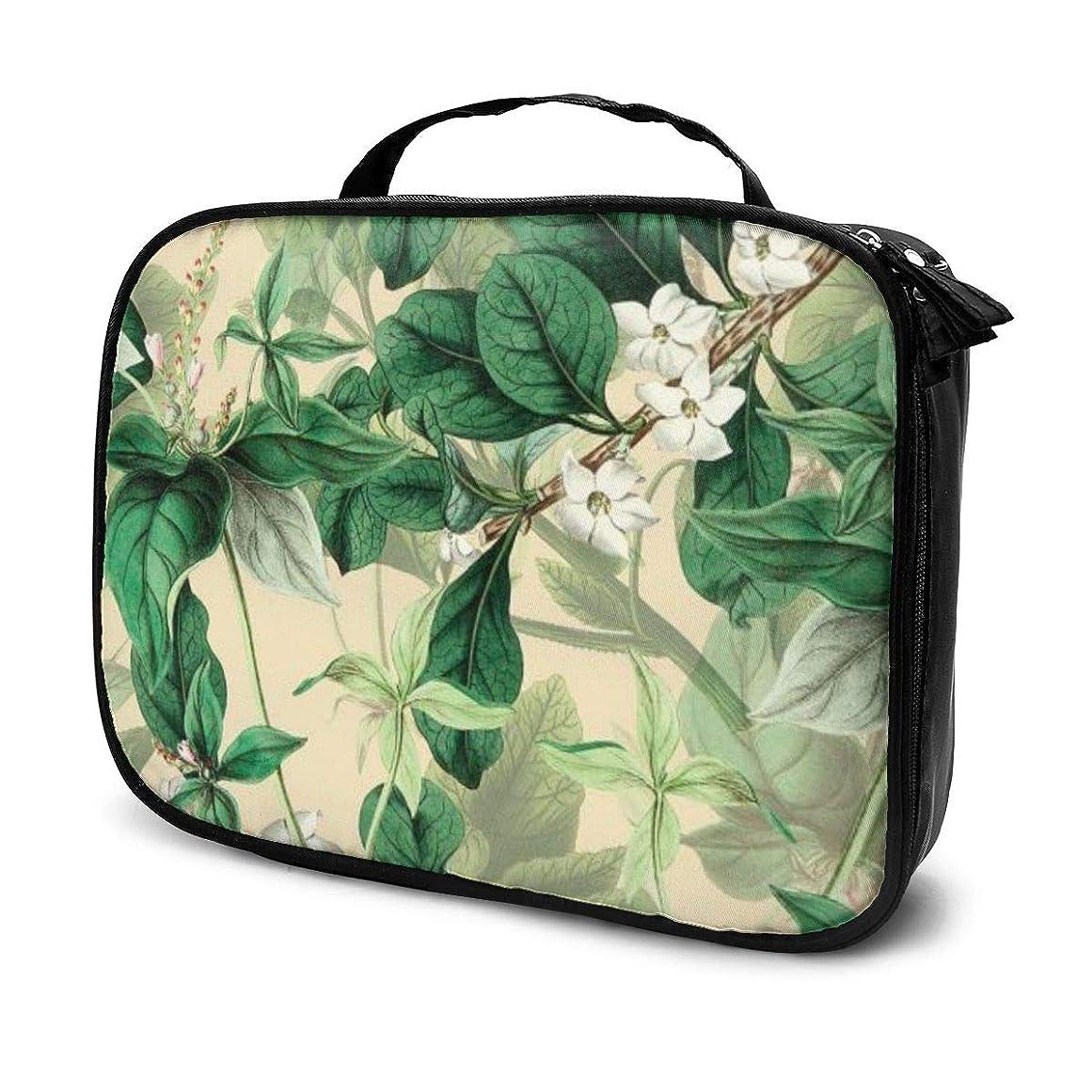 離れた北文句を言う収納袋植物プリント化粧品袋耐摩耗性軽量ポータブル高品質大容量旅行ポーチバスルームポーチ旅行小物整理約8×25×19cm