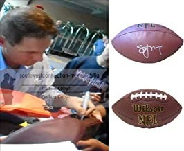 Steve Young San Francisco 49ers Autographed Hand Signed NFL Wilson Football with Exact Proof Photo of Signing, Tampa Bay Buccaneers, BYU Brigham Young University Cougars, COA