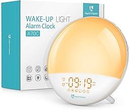 Heimvision Sunrise Alarm Clock, A70C Wake up Light, Sleep Aid, Digital Alarm Clock Radio with Dual Alarms, Snooze/FM Radio...