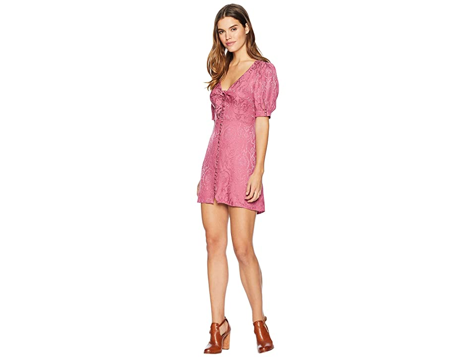 For Love and Lemons Lara Jacquard Mini Dress (Dusty Rose) Women