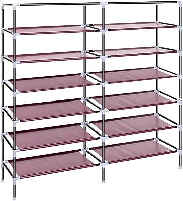 Anva A3 Fabric Folding Cabinet, 4.1 Feet, Maroon