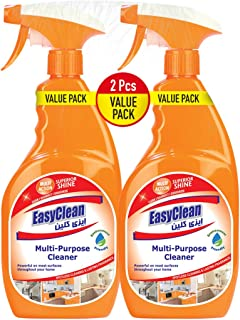 EasyClean Multi-Action Superior Shine Clean/Disinfect/Deodorize All-Purpose Cleaners Spray 750ml + 750ml (PACK OF 2)
