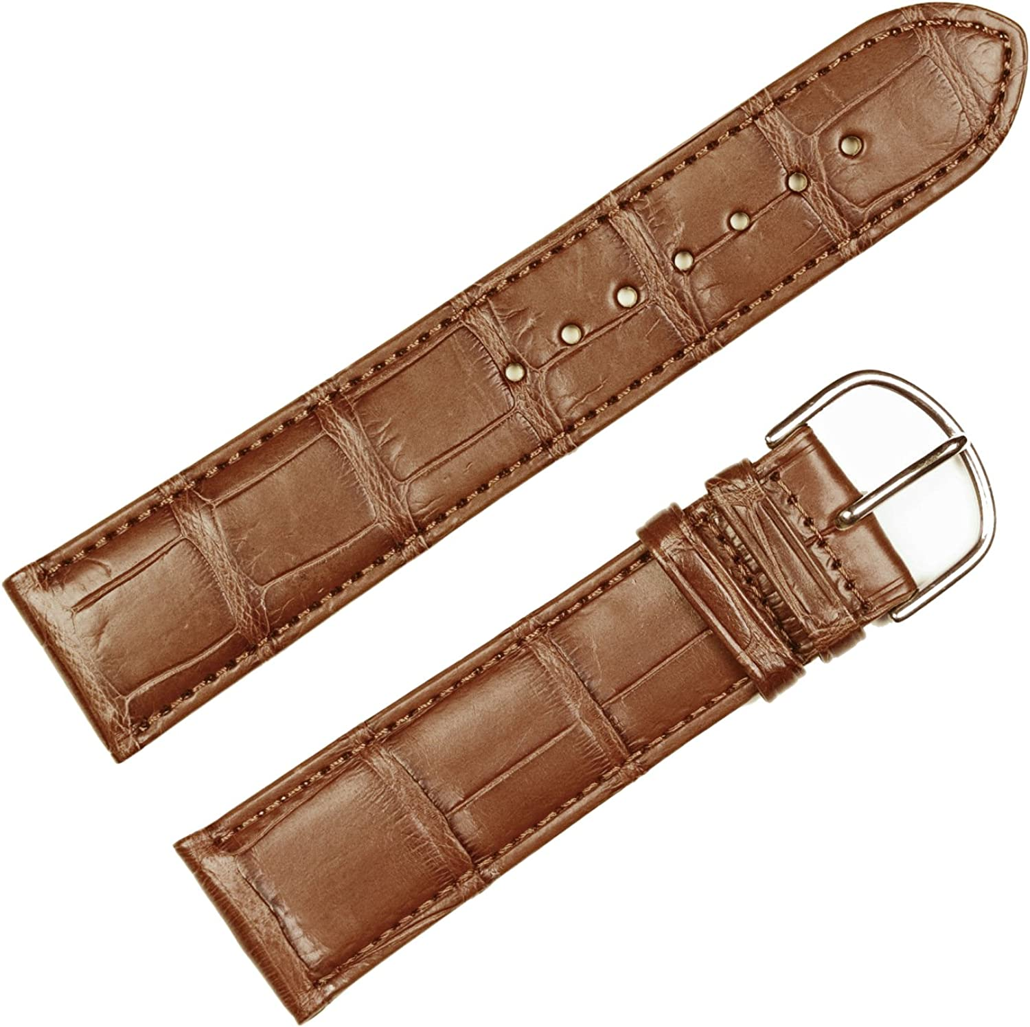 Replacement Leather Watch 5 ☆ popular Band - Genuine Matte Alligator Max 77% OFF Saddle