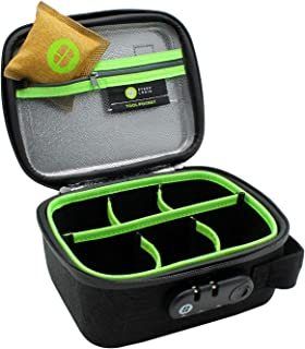 STASHLOGIX Silverton - Locking Stash Bag with Odor Control (Medium, Black)